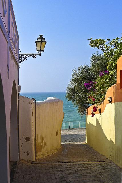 Picturesque streets of Albufeira, Algarve Coast, Portugal