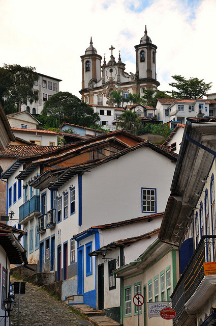 Ouro Preto, designated a World Heritage Site by Unesco because of its outstanding baroque architecture, Brazil