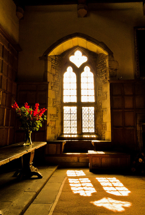Arched Window, Haddon Hall, Derbyshire, England