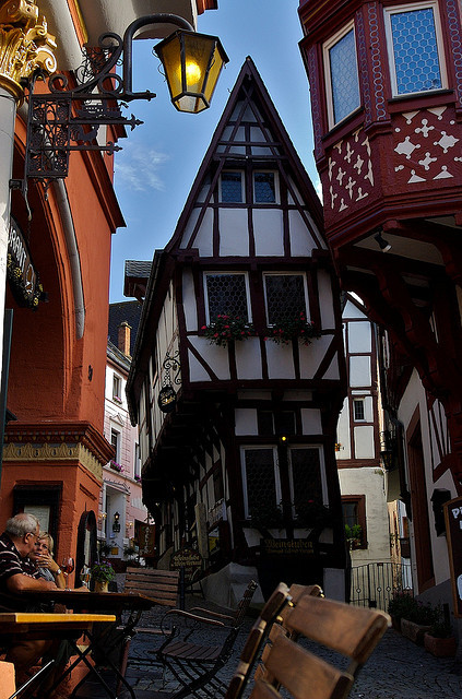 Lovely streets of Bernkastel-Kues in Rhineland-Palatinate, Germany