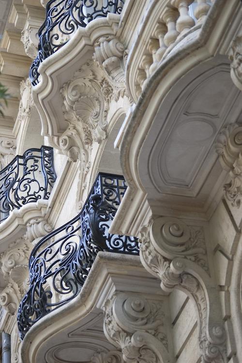 Blue Balconies, Paris, France