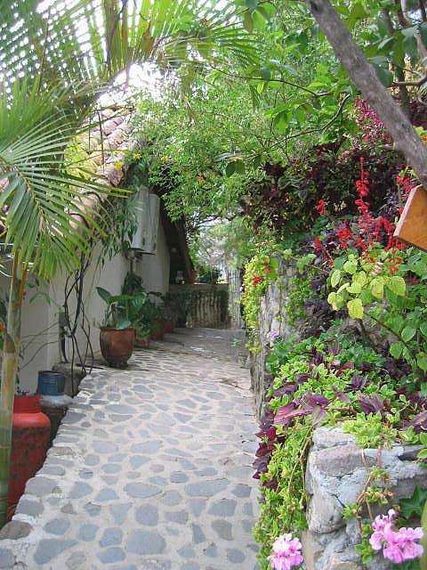 Alleyway at La Casa del Mundo in Jaibalito, Guatemala