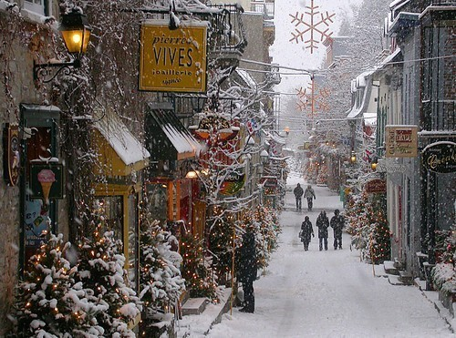 Snowy Day, Old Town, Quebec City, Canada