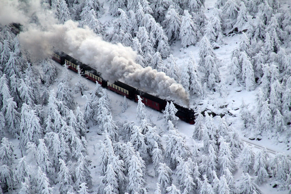 Snow Train, Brocken Mountain, Germany