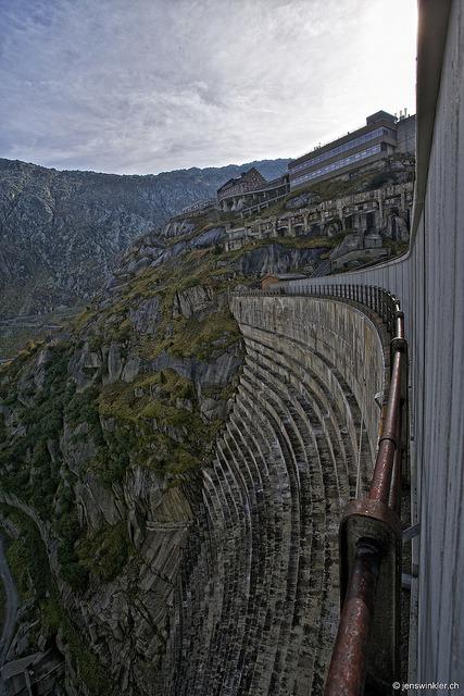 Grimsel Dam in Canton of Berne, Switzerland