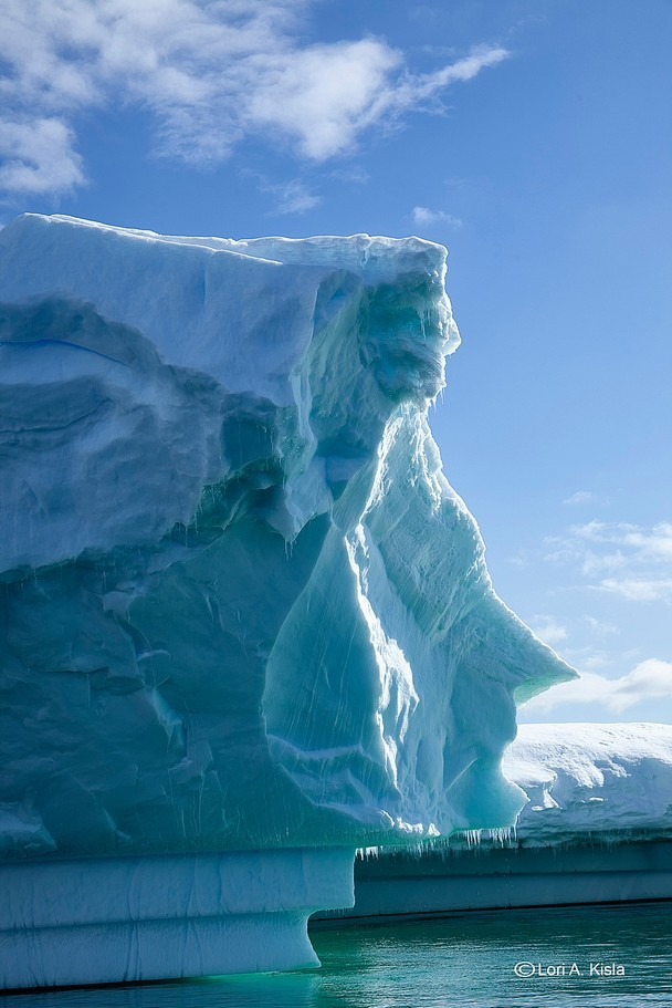 A face in the ice, Penola Strait, Antarctica