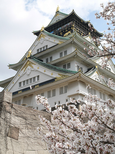 Spring at Osaka Castle, Japan
