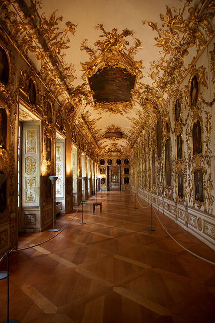 The Ancestral Gallery at the Munich Residenz, Germany