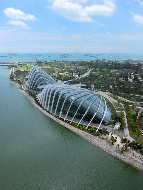 The Flower Dome in Garden By the Bay, Singapore
