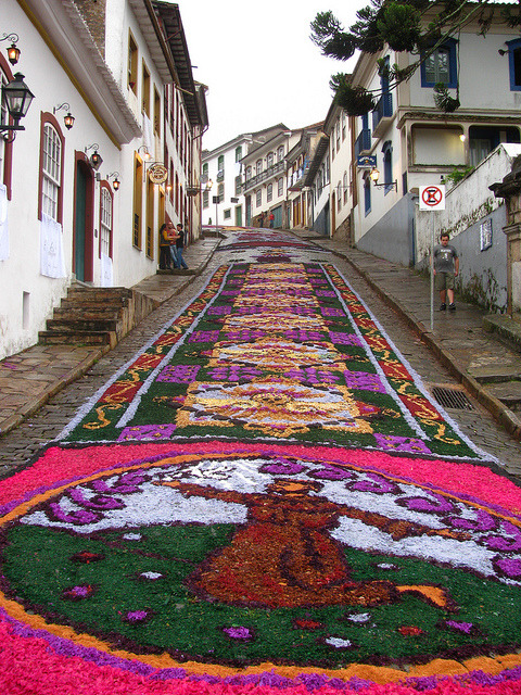 Street decorations in Ouro Preto, Brazil