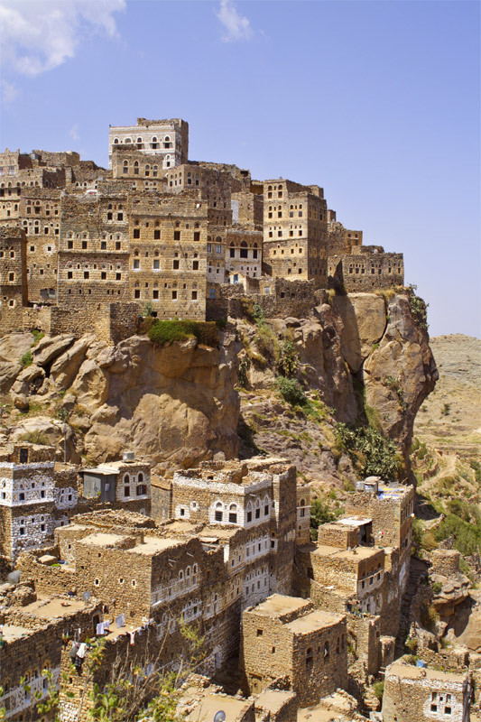 The 800 years old village of Al Hajjarah in Haraz Mountains, Yemen