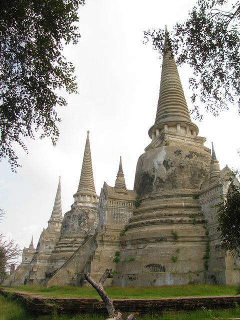 Wat Phra Si Sanphet in Ayutthaya. Thailand