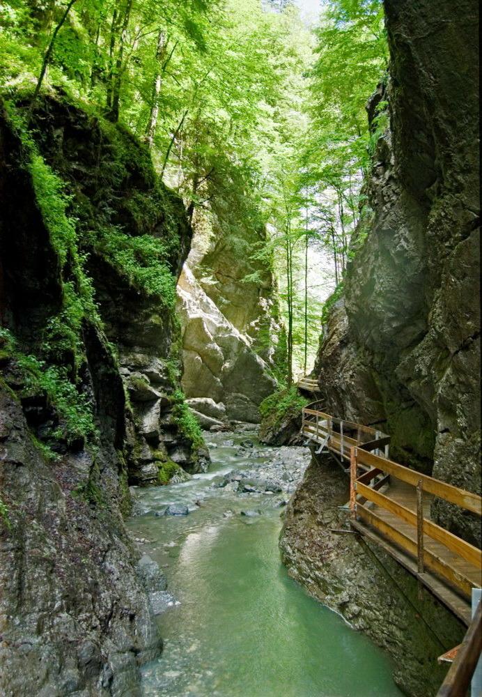 Rappenlochschlucht – Alploch Gorges, one of the largest gorges in the Eastern Alps, near Dornbirn, Austria