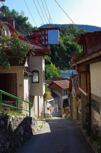 Downhill in Sarajevo, Bosnia and Herzegovina