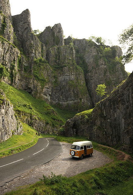 Cheddar Gorge in Somerset, England