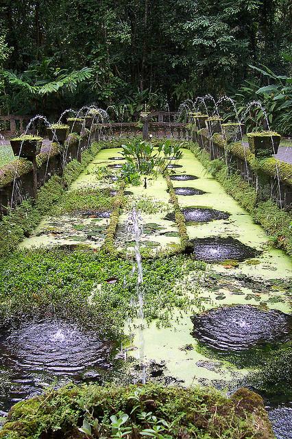 The fountain of Paronella Park in north Queensland, Australia