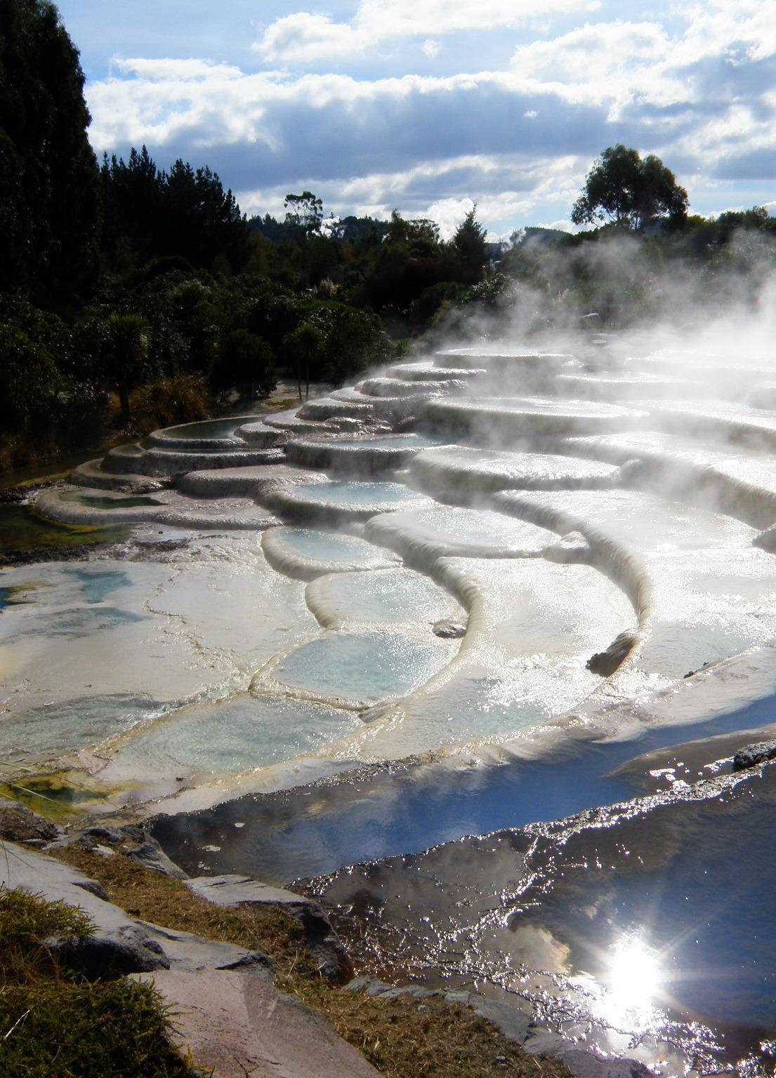 Wairakei thermal terraces in Rotorua, North Island, New Zealand