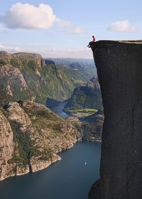 Living on the edge, Preikestolen, Norway