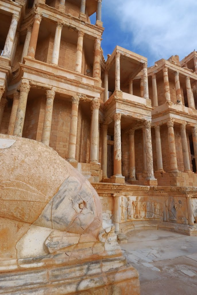 Ruins of the roman theatre of Sabratha in nortwestern Libya