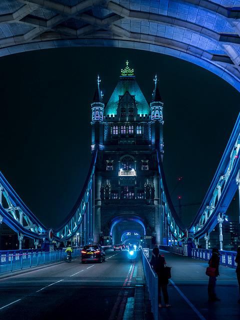 Blue hour at Tower Bridge, London / England