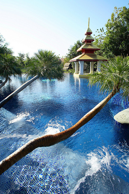 The pool at Mandarin Oriental Resort in Chiang Mai / Thailand