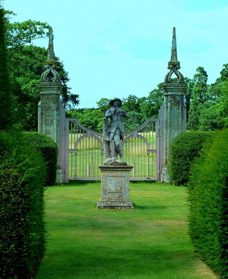 Canons Ashby House gardens in Northamptonshire / England