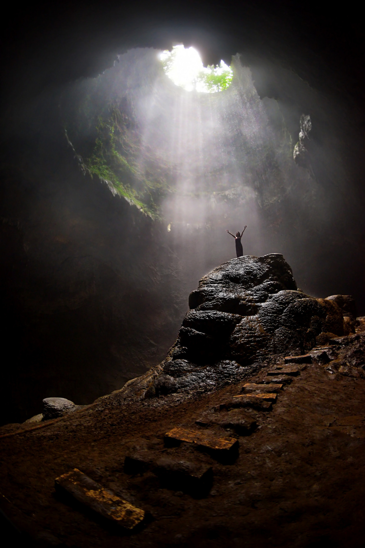 The heavenly light in Grubug Cave / Indonesia